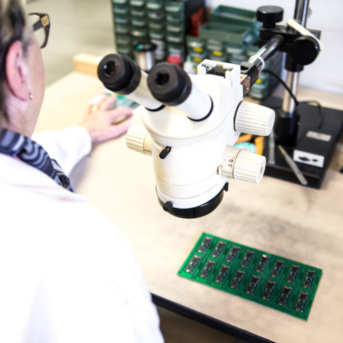 operating on microscope